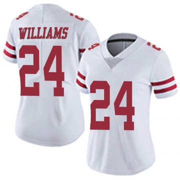 Women's San Francisco 49ers K'Waun Williams White Limited Vapor Untouchable Jersey By Nike