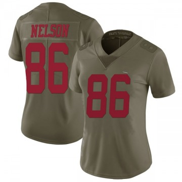 Women's San Francisco 49ers Kyle Nelson Green Limited 2017 Salute to Service Jersey By Nike