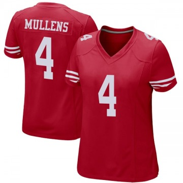 Women's San Francisco 49ers Nick Mullens Red Game Team Color Jersey By Nike