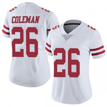 Women's San Francisco 49ers Tevin Coleman White Limited Vapor Untouchable Jersey By Nike