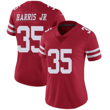 Women's San Francisco 49ers Tim Harris Red Limited Team Color Vapor Untouchable Jersey By Nike