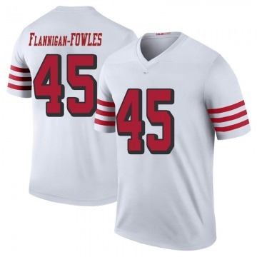 Youth San Francisco 49ers Demetrius Flannigan-Fowles White Legend Color Rush Jersey By Nike
