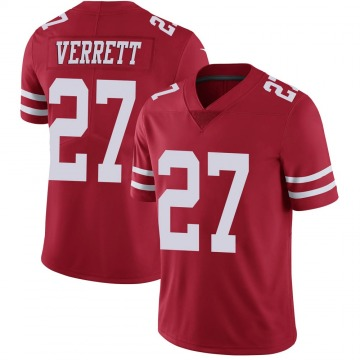 Youth San Francisco 49ers Jason Verrett Red Limited Team Color Vapor Untouchable Jersey By Nike