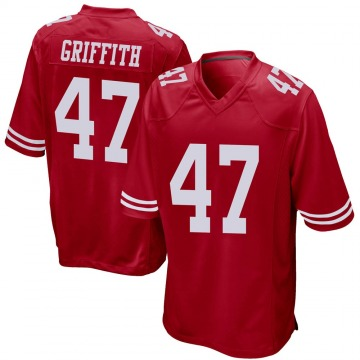 Youth San Francisco 49ers Jonas Griffith Red Game Team Color Jersey By Nike