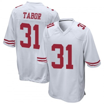 Youth San Francisco 49ers Teez Tabor White Game Jersey By Nike