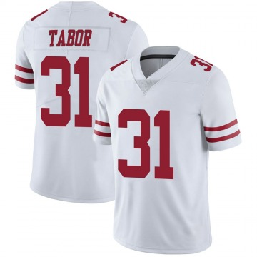 Youth San Francisco 49ers Teez Tabor White Limited Vapor Untouchable Jersey By Nike