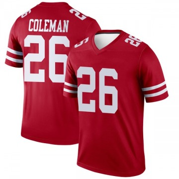 Youth San Francisco 49ers Tevin Coleman Scarlet Legend Jersey By Nike